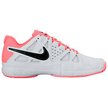 Buy Nike Air Vapor Advantage Women's Tennis Shoes, White/Lava Glow Online at johnlewis.com