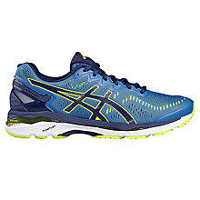 Buy Asics GEL-KAYANO 23 Men's Structured Running Shoes, Blue/Yellow Online at johnlewis.com