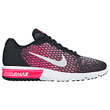 Buy Nike Air Max Sequent 2 Women's Running Shoes, Black/Racer Pink Online at johnlewis.com