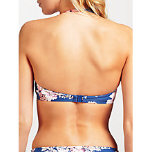 Buy Seafolly Vintage Wildflower Bustier Bandeau Bikini Top, French Blue Online at johnlewis.com