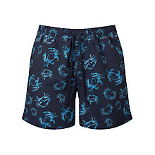 Buy John Lewis Crab Print Swim Shorts, Navy Online at johnlewis.com