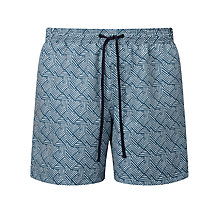 Buy John Lewis Splice Print Swim Shorts, Blue Online at johnlewis.com