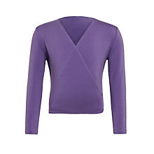 Buy Freed Royal Academy of Dance Crossover 3/4 Sleeves Wrap Cardigan, Purple Online at johnlewis.com