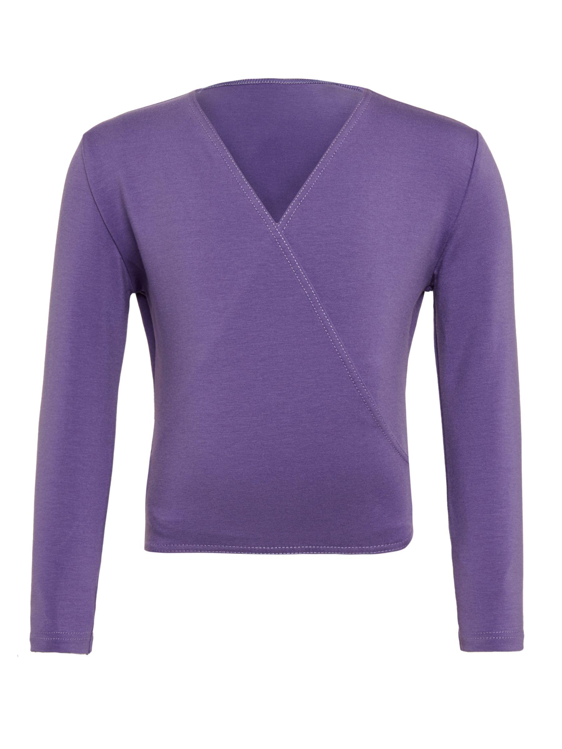 Freed Dancewear Freed Royal Academy of Dance Crossover 3/4 Sleeves Wrap Cardigan, Purple