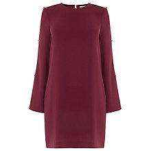 Buy Warehouse Diamante Button Sleeve Dress Online at johnlewis.com