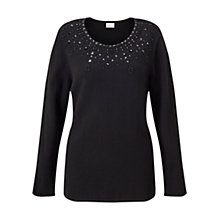 Buy East Embellished Jumper, Black Online at johnlewis.com