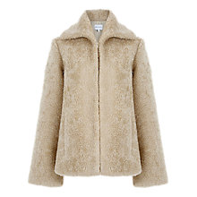 Buy Warehouse Mock Shearling Coat, Cream Online at johnlewis.com
