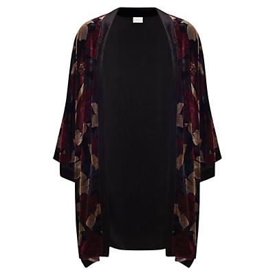 East Alexandra Print Kimono Top, Crimson