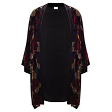 Buy East Alexandra Print Kimono Top, Crimson Online at johnlewis.com