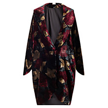 Buy East Alexandra Print Coat, Crimson Online at johnlewis.com