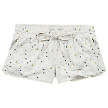 Buy Fat Face Chute Star Pyjama Shorts, Grey Marl Online at johnlewis.com