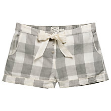 Buy Fat Face Wilsford Check Pyjama Shorts, Grey Online at johnlewis.com