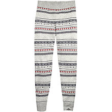 Buy Fat Face Fair Isle Knitted Leggings, Grey Online at johnlewis.com