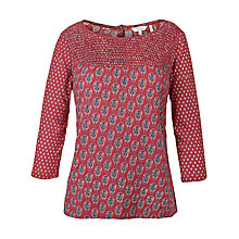 Buy Fat Face Bella Gypset Paisley Blouse, Flame Online at johnlewis.com