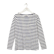 Buy Fat Face Cassie Button Back Stripe Top Online at johnlewis.com