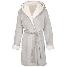 Buy Fat Face Frosted Dressing Gown, Mocha Online at johnlewis.com