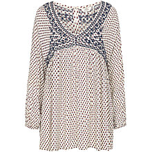 Buy Fat Face Beth Foulard Boho Blouse, Ivory Online at johnlewis.com