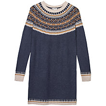 Buy Fat Face Skylar Fair Isle Dress, Navy Online at johnlewis.com