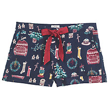 Buy Fat Face Christmas Clutter Shorts, Navy Online at johnlewis.com