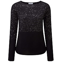 Buy Pure Collection Zuri Sparkle Jumper, Black Online at johnlewis.com