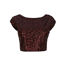 Buy Coast Tisa Top, Chocolate Online at johnlewis.com