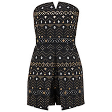 Buy Ted Baker Eefa Sparkle Bandeau Playsuit, Black Online at johnlewis.com