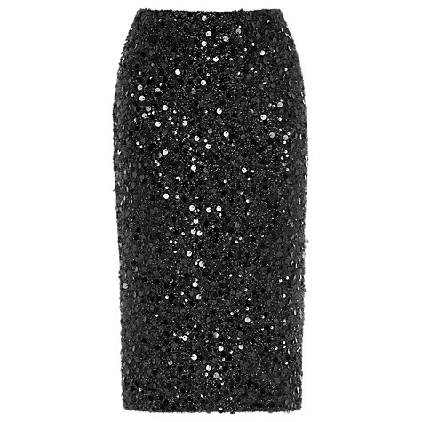 buy warehouse sequin pencil skirt black lewis