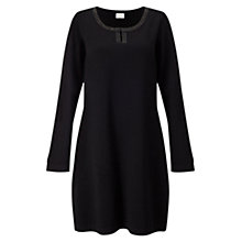 Buy East Beaded Jersey Tunic Dress, Black Online at johnlewis.com