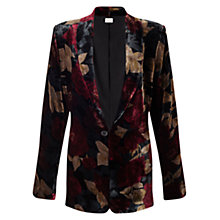 Buy East Alexandra Velvet Blazer, Crimson Online at johnlewis.com