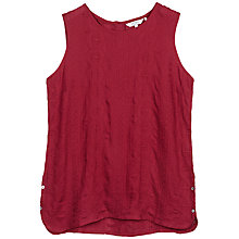 Buy Fat Face Emme Embroidered Vest, Cranberry Online at johnlewis.com