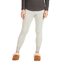 Buy Fat Face Knitted Snowflake Cuffed Leggings, Grey Online at johnlewis.com