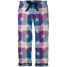 Buy Fat Face Snowflake Jacquard Check Print  Pyjama Bottoms, Fig Online at johnlewis.com