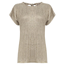 Buy Warehouse Metallic Crinkle T-Shirt Online at johnlewis.com