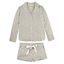 Buy Fat Face Star Print Woven Pyjama Set, Grey Online at johnlewis.com