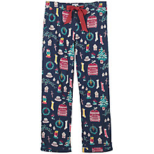 Buy Fat Face Christmas Clutter Classic Pyjama Bottoms, Navy Online at johnlewis.com