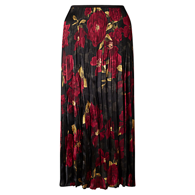 East Alexandra Pleat Skirt, Crimson