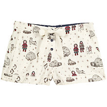 Buy Fat Face Eskimo And Igloo Pyjama Shorts, Ivory Online at johnlewis.com