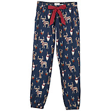 Buy Fat Face Animals With Antlers Print Pyjama Bottoms, Navy Online at johnlewis.com