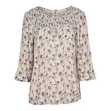 Buy Fat Face Bella Trailing Poppies Blouse, Ivory Online at johnlewis.com