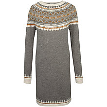 Buy Fat Face Skyla Fair Isle Dress, Moleskin Online at johnlewis.com