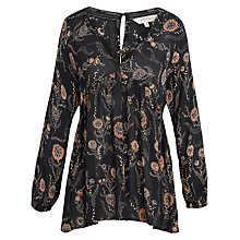 Buy Fat Face Poppies Blouse, Phantom Online at johnlewis.com