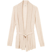 Buy Fat Face Knitted Longline Cardigan, Powder Pink Online at johnlewis.com