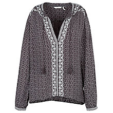 Buy Fat Face Tania Embroidered Tassel Popover Top, Phantom Online at johnlewis.com