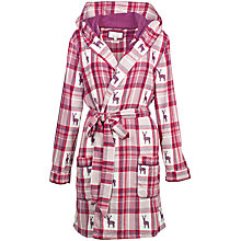 Buy Fat Face Reindeer Jacquard Dressing Gown, Poinsettia Online at johnlewis.com