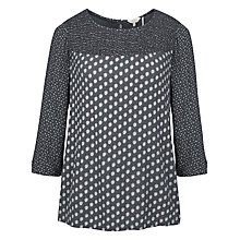 Buy Fat Face Bella Chrysanthemum Blouse, Phantom Online at johnlewis.com