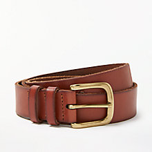 Buy John Lewis Katherine Tie Leather Jeans Belt, Light Tan Online at johnlewis.com