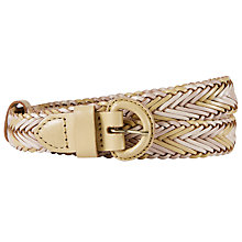 Buy John Lewis Sianne Skinny Plaited Leather Belt Online at johnlewis.com