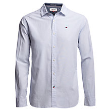 Buy Hilfiger Denim Fine Stripe Regular Fit Shirt, Classic White Online at johnlewis.com