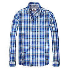 Buy Hilfiger Denim Check Regular Fit Shirt, True Blue Online at johnlewis.com