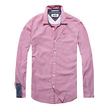 Buy Hilfiger Denim Basic End on End Solid Regular Fit Shirt, Raspberry Wine Online at johnlewis.com